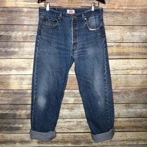 Levi's 501 button fly men's boyfriend jeans 35x36